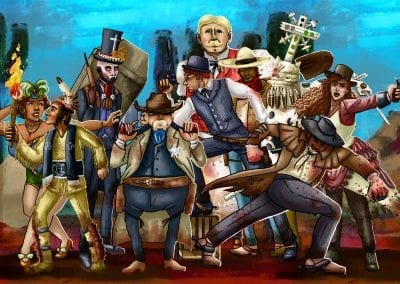 wild west character design